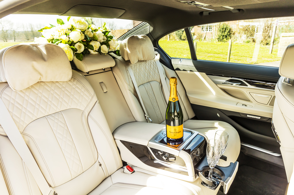 White 7 - 7 series Wedding Car