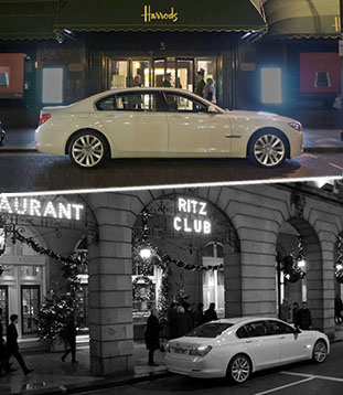 White 7 Lincoln Experiences - Harrods and the Ritz